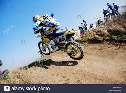 motocross race tracks motocross rider on a race track stock photo royalty free image