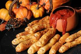 bread and roll dough pepperoni halloween fingers bread and roll