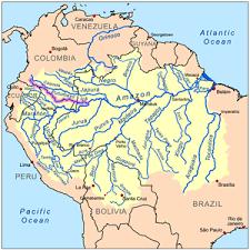 parana river map putumayo river