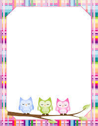 9 best images of owl border paper printable printable owl