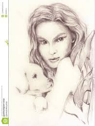 beautiful pencil drawings of girls drawing artistic