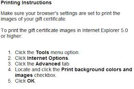 gift certificate printing gift certificates