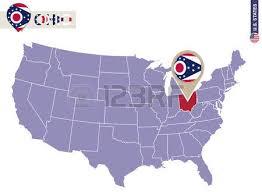 map usa ohio ohio state on usa map ohio flag and map us states royalty free