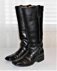 men s tall motorcycle riding boots vintage black leather square toe tall riding boot men 8 d equestrian
