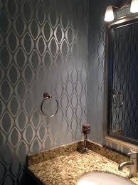 designer bathroom wallpaper wallpaper contemporary bathroom toronto by walsh painting