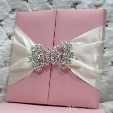 wedding supply websites luxury light pink color thai silk invitation folio with customized