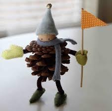 diy pine cone ornaments for tweens