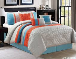 Burnt Orange Comforter King Gray And Orange Comforter Set Fiesta Decoration