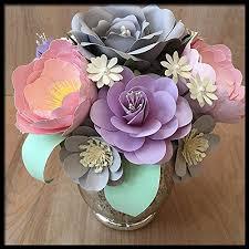 amazon com pastel paper flower centerpiece handmade floral