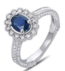 engagement rings on sale sale antique floral 1 carat blue sapphire and diamond engagement