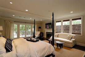 Traditional Bedrooms - traditional master bedroom with exposed beam by robert wylie