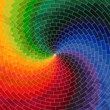 Color Spectrum Mosaic Spectrum Color Wheel Made Of Geometric Shapes Rainbow