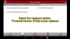 bmw e series coding launch x 431pro pro3 e series frm footwell module coding