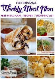Free Dinner Ideas Get 20 Weekly Meal Plans Ideas On Pinterest Without Signing Up