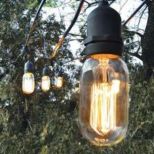 Edison Bulb Patio String Lights Bulbrite Nostalgic Collection Big Bare Bulbs