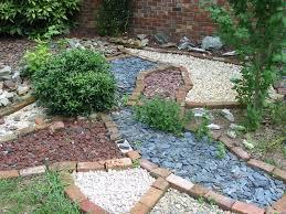 small family garden perky affordable rock garden ideas as wells as flowers design rock