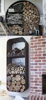furniture accessories outdoor firewood fireplaces design idea