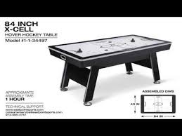nhl premium 84 attacker hover air hockey table x cell hover hockey table assembly video youtube
