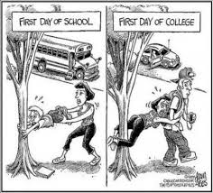 First Day Of College Meme - first day school vs college giantgag