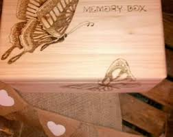 engraved memory box large keepsake box etsy
