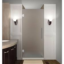 frosted glass interior doors home depot aston cascadia 31 in x 72 in completely frameless hinged shower