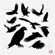 simple vulture tattoo birds eagle silhouette vector set eagle tattoos eagle and tattoo