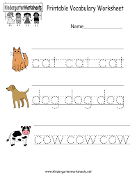 Esl Vocabulary Worksheets Surprising Printable Vocabulary Worksheet Free Kindergarten