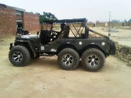 modified jeep 2017 modified willys jeep 6x6 india 006 bharathautos automobile news