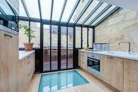 agrandissement cuisine extension sur terrasse et rénovation d une échoppe contemporain