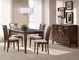 grandeur 5 piece dining room set bark brown furniture ca