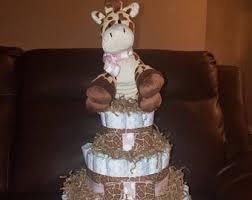 giraffe diaper cakes etsy