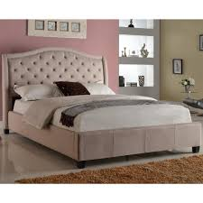 Crib Canopy Crown by Crown Mark Addison Upholstered Queen Bed With Tufted Headboard