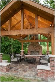 Backyard Decoration Ideas by Backyards Wondrous Outdoor Pavilion Wood Burning Fireplace 142