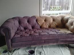 Fabric Paint For Upholstery Reloved Rubbish The Painted Sofa Painted Upholstery Pinterest