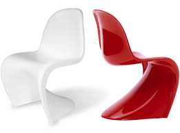 panton s chair fiberglass platinum replica
