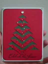 handmade christmas card clean and simple cut and folded