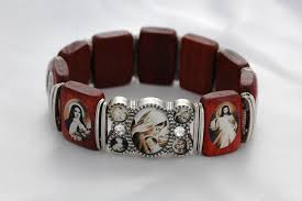 saints bracelet contreras designs inc bracelets ba008sp wood