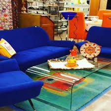canap bleu roi arrivé ce matin canapé et deux fauteuils en tissus vintage bleu roi