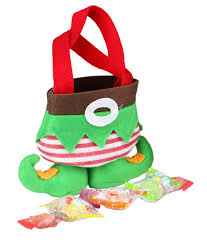 amazon com wowlife holiday secret santa candy bags elf socks