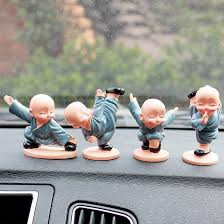 4pcs set car interior accessories doll resin gifts