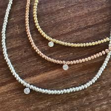 rose choker necklace images Beaded choker necklace diamond choker cz rose gold choker gold jpg