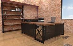 Brooklyn Office Furniture by Iron Age Sit Stand Desk Industrial Office Furniture Modern