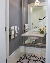 gray mosaic powder room floor tiles design ideas