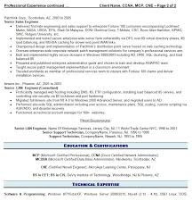 Sample Of It Resume by Professional It Resume Resume Writing Guild