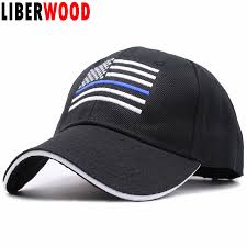 Usa Flag Hats Liberwood Us Flag Thin Blue Line Hat Tactical Hats For Police