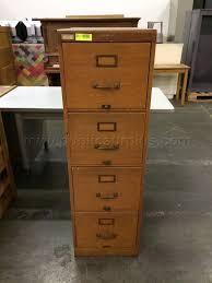 Oak File Cabinet 4 Drawer Public Surplus Auction 1293544
