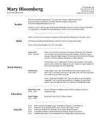 Examples Of Nanny Resumes by Resume Examples No Work Experience High Student