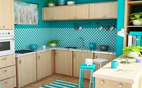 Kitchen Wall Painting Ideas Blue Kitchen Wall Paint Ideas For Small Kitchen With Open