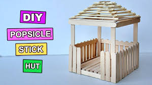 popsicle stick crafts miniature relaxing hut 3 youtube