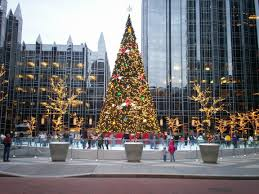 christmas pittsburgh pa christmas tree in downtown pittsburgh